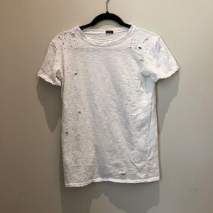 Distressed Brandy Melville White T-Shirt